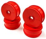 KYOIFH006KR Kyosho Inferno MP9 TKi4 Dish Wheel Red - Package of 4