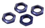 KYOIFW472BL Kyosho Inferno Serrated Wheel Nuts Blue - Package of 4