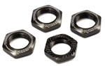 KYOIFW472GM Kyosho Inferno Serrated Wheel Nuts Gun Metal - Package of 4