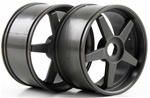 KYOIGH006GM Kyosho Inferno GT Gunmetal 5-Spoke Wheels - Package of 2