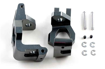 KYOIGW001GM Kyosho Gunmetal Inferno Aluminum Front Hub Carriers GT and GT2 - Left and Right