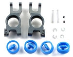 KYOIGW002GM Kyosho Inferno Gunmetal Aluminum Rear Hub Carriers GT and GT2 - Left and Right