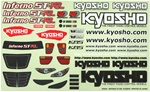 KYOISD051 Kyosho ST-RR Decal Sheet