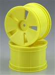 KYOISH01KY Kyosho Yellow Wheel (MFR, ST) - Package of 2