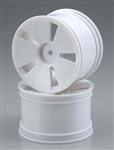 KYOISH01W Kyosho White Wheel (MFR, ST) - Package of 2