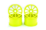 Yellow Kyosho 10 Spoke Wheels