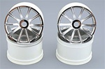 Chrome Kyosho 10 Spoke Wheels