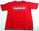 KYOKA10002S2X Kyosho K Fade Short Sleeve T-Shirt Red Size 2XL