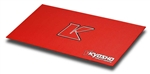 KYOKA30005R Kyosho Big K 2.0 Red Pit Mat - 2' x 4'