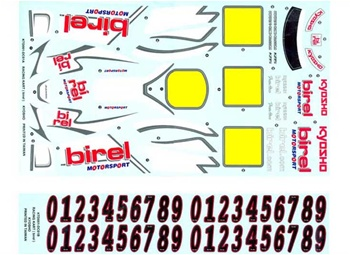 KYOKTD001 Kyosho Birel Racing Kart Birel R31-SE Decal Set
