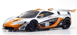KYOMZP235SO-B McLaren P1 GTR Silver/Orange Body Set for MR-03W-MM Chassis