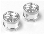 KYOSCH002CM Kyosho Scorpion 2014 Rear Wheel Shiny Chrome - Package of 2