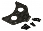 KYOSCW008 Kyosho Scorpion Carbon Gear Box Mount Set