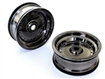 KYOSXH001BC Kyosho Scorpion XXL Front Wheel Black Chrome - Package of 2