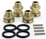 KYOSXW009 Kyosho Scorpion XXL Front and Rear Aluminum Wheel Hub Set +5mm and +15mm