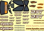 KYOTRD251 Kyosho Decal Set for the DST Body