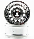 KYOTRH111SM Kyosho Silver Wheel DRT - Package of 2