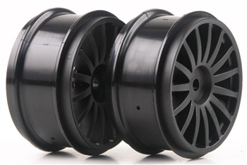 KYOTRH121BK Kyosho DRX Wheel 15 Spoke Black - Package of 2