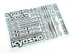 KYOUMD02 Kyosho Ultima RB6 Decal Sheet