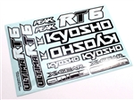 KYOUMD03 Kyosho Ultima RT6 Decal Sheet