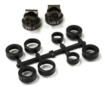 KYOUMW704-05 Kyosho Aluminum V2 Rear Hub Carriers 0.5 deg. for RB6, RB5, ZX5-FS and RT5 Gunmetal - Package of 2