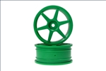 KYOVZH001GR Kyosho Green 6 spoke 24mm Wheel - Package of 2