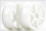 KYOVZH001W Kyosho White 6 spoke 24mm Wheel - Package of 2