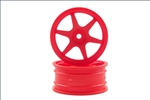 KYOVZH007KO Kyosho Orange 6 Spoke 24mm Wheel - Package of 2