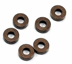 KYOW0144GM Kyosho Aluminum collar 3x7x2mm Gunmetal - Package of 6