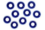 KYOW0147 Kyosho Washers M4 Flat Head Aluminum - Package of 10