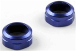 KYOW5189-01BL Kyosho Blue Aluminum Shock Caps (ZX-5 SP and FS) - Package of 2