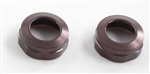 KYOW5303-02GM Kyosho Big Bore Triple Cap Shock Cap Gunmetal Aluminum - Package of 2