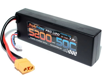 PHB2S520050C 5200 mAh 7.4V 2S 50C LiPo Battery w/ Hardwired XT90
