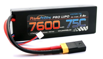 PHB2S760075CXT60APT 7600mAh 7.4V 2S 75C LiPo Battery with Hardwired XT90