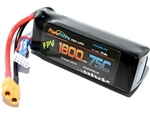 PHB4S180075CXT60 1800mAh 14.8V 4S 75C LiPo Battery with Hardwired XT60