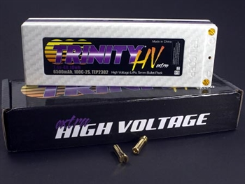 TRITEP2302 2S 7.4v 6500mah 100C High Voltage Pack with 5MM Bullets