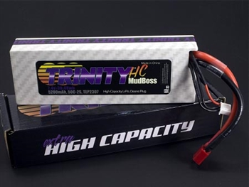 TRITEP2307 2S 7.4v 5200mah 50C HC Mudboss Pack with T-Plug (Deans Type)