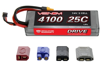 VNR1557 DRIVE 25C 2S 4100mAh 7.4V LiPo Hardcase Battery with UNI 2.0
