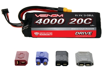 VNR1580 DRIVE 20C 3S 4000mAh 11.1V LiPo Battery with UNI 2.0 Plug