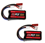 VNR25147X2 Fly 30C 2S 300mAh 7.4V LiPo w/ JST and E-flite PH Plug x2
