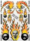 xxx main Skulls O'Fire Sticker Sheet
