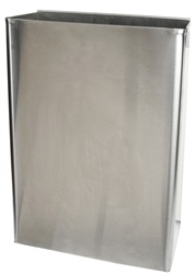 Stainless Steel Waste Can - 8 Gallon