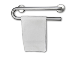 Grab Bar with Towel Bar - 24 Inch