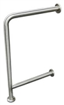 Drinking Fountain Grab Bar - Wall to Floor with Support