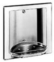 Recessed Soap and Tumbler Holder with tray, bright polished