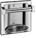 Recessed Soap Holder with Bar- with tray, satin