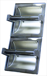 Double Toilet Paper Holder, vertical, bright polished
