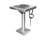 "Detention Stool with Handcuff Ring - 12"" x 12"""