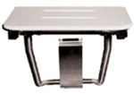 "Rectangular Shower Seat - Ivory Phenolic (18"" by 16"") Note: White Seat Pictured"