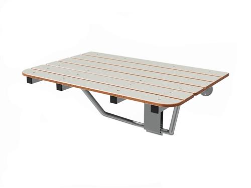 Fold Down Rectangular Shower Seat - Ivory Top (32\